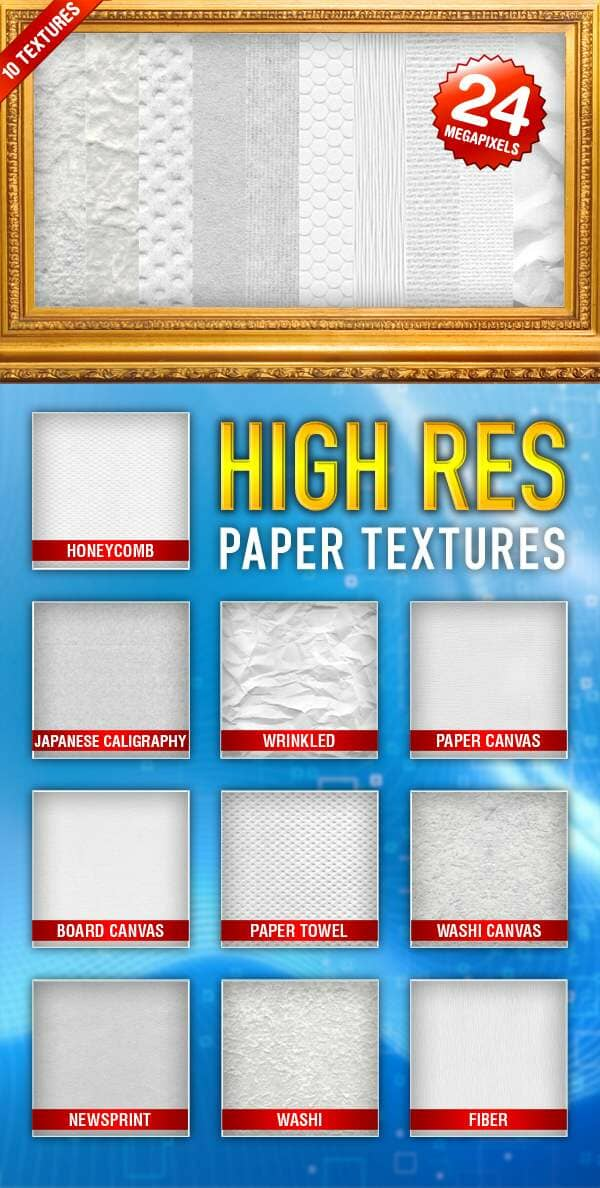 High Res Paper Textures