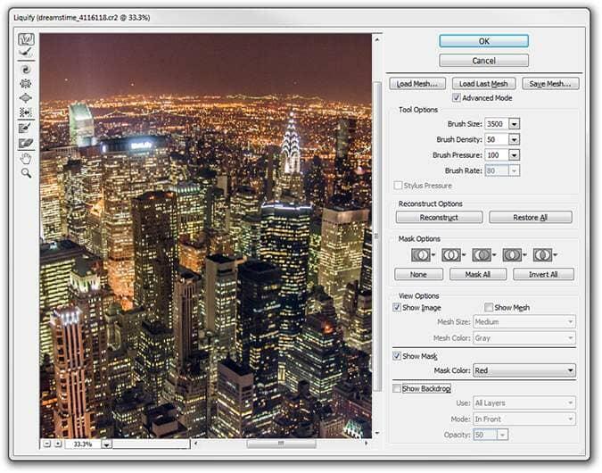 Liquify tool in Photoshop CS6