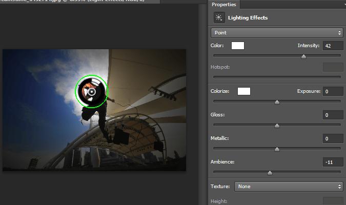 CS6 Lighting Effects filter interface