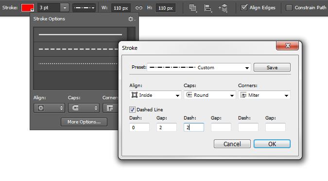 Custom stroke options