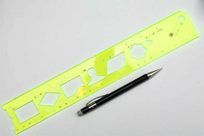 User Flow Stencil with Pentel Forte A55 Pencil