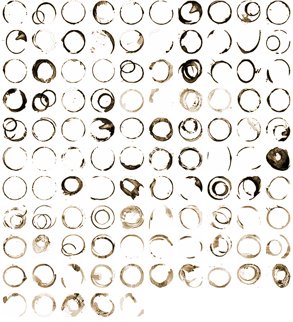 Thumbnails of cup stains
