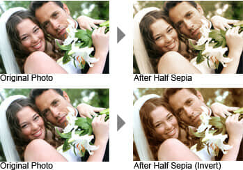 Before and After Half Sepia