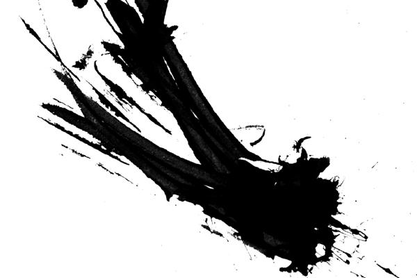 Example of ink splatter