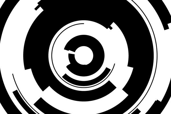 Closeup of tech ring Photoshop brush