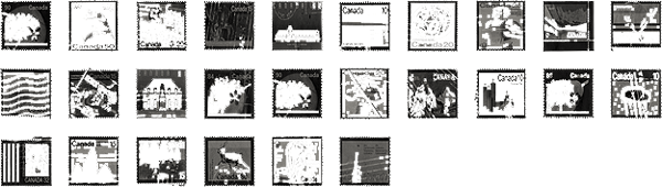 Thumbnails of Canadian stamps
