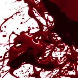 Glossy Blood Splatter Photoshop Brushes