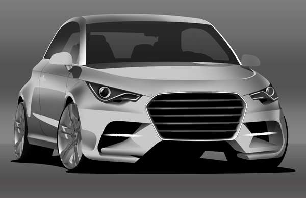How to Create an Audi A1 Digital Car Painting in Photoshop
