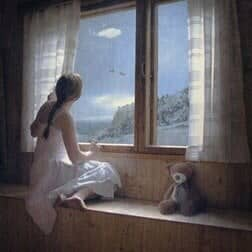 Dreamy Photo Manipulation of a Girl Looking Out a Window