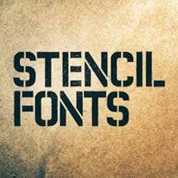 Stencil Fonts Photoshop Brushes