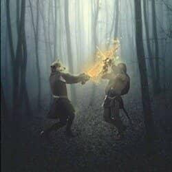 Create a Werewolf Warrior Wielding a Flaming Sword in Photoshop