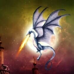 How to Draw a Colorful Fantasy Dragon Battle Scene in Photoshop