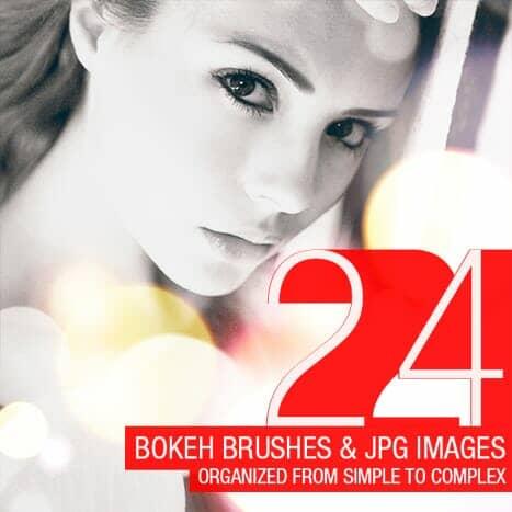 Freebie: 24 Abstract Bokeh Brushes