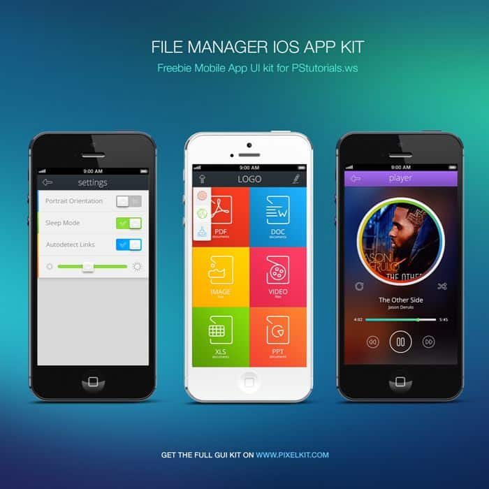 Free Download: File Manager IOS App Kit by PixelKit