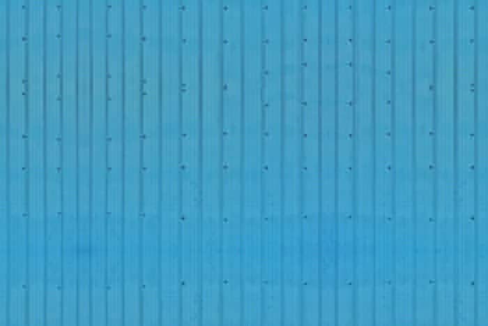 Blue Corrugated Wide Planks