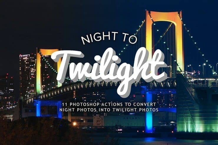 Free Download: Photoshop Actions to Turn Night Photos into Twilight Photos
