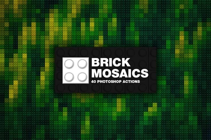 Free Download: Awesome Lego Mosaic Actions