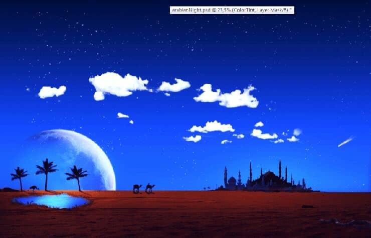 How to Create Vivid Arabian Night Composite in Photoshop