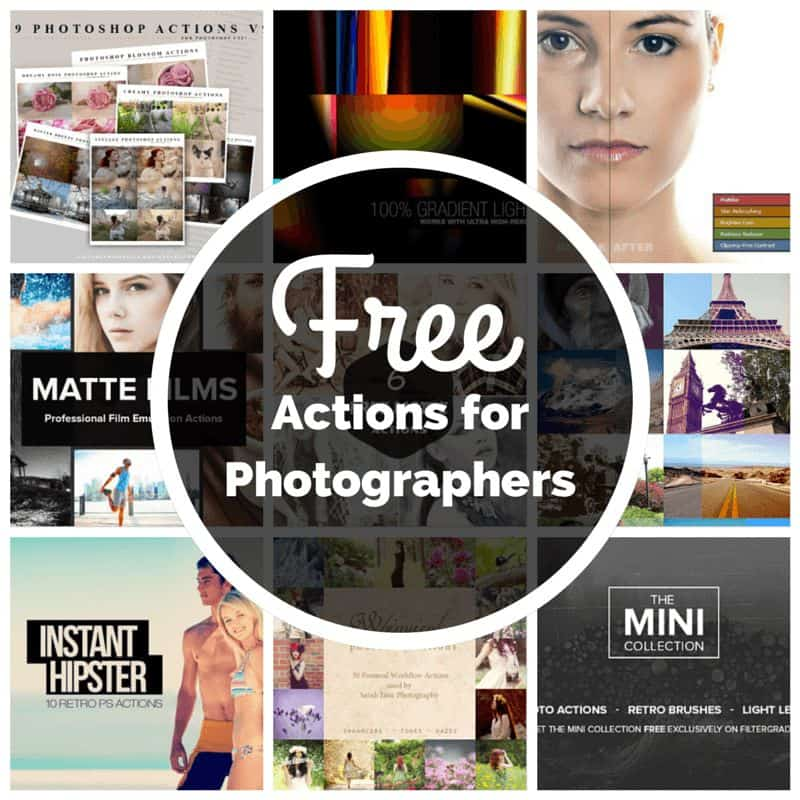 10+ Free Photoshop Actions for Photographers