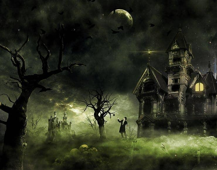 Create This Eerie Haunted House Scene for Halloween