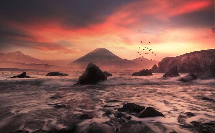 Manipulate a Photo into a Beautiful Fiery Sunset Landscape