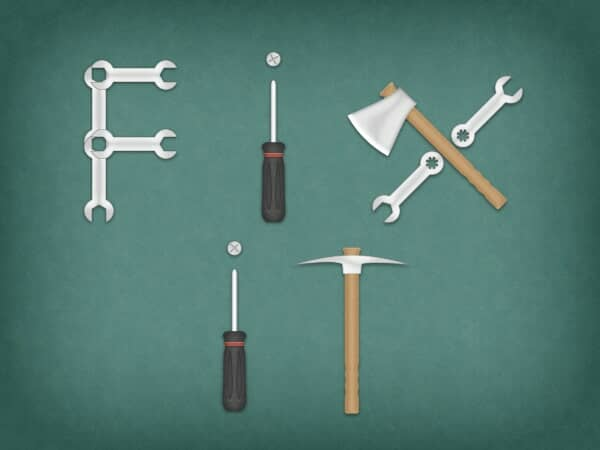 Create a Tools Text Effect in Photoshop