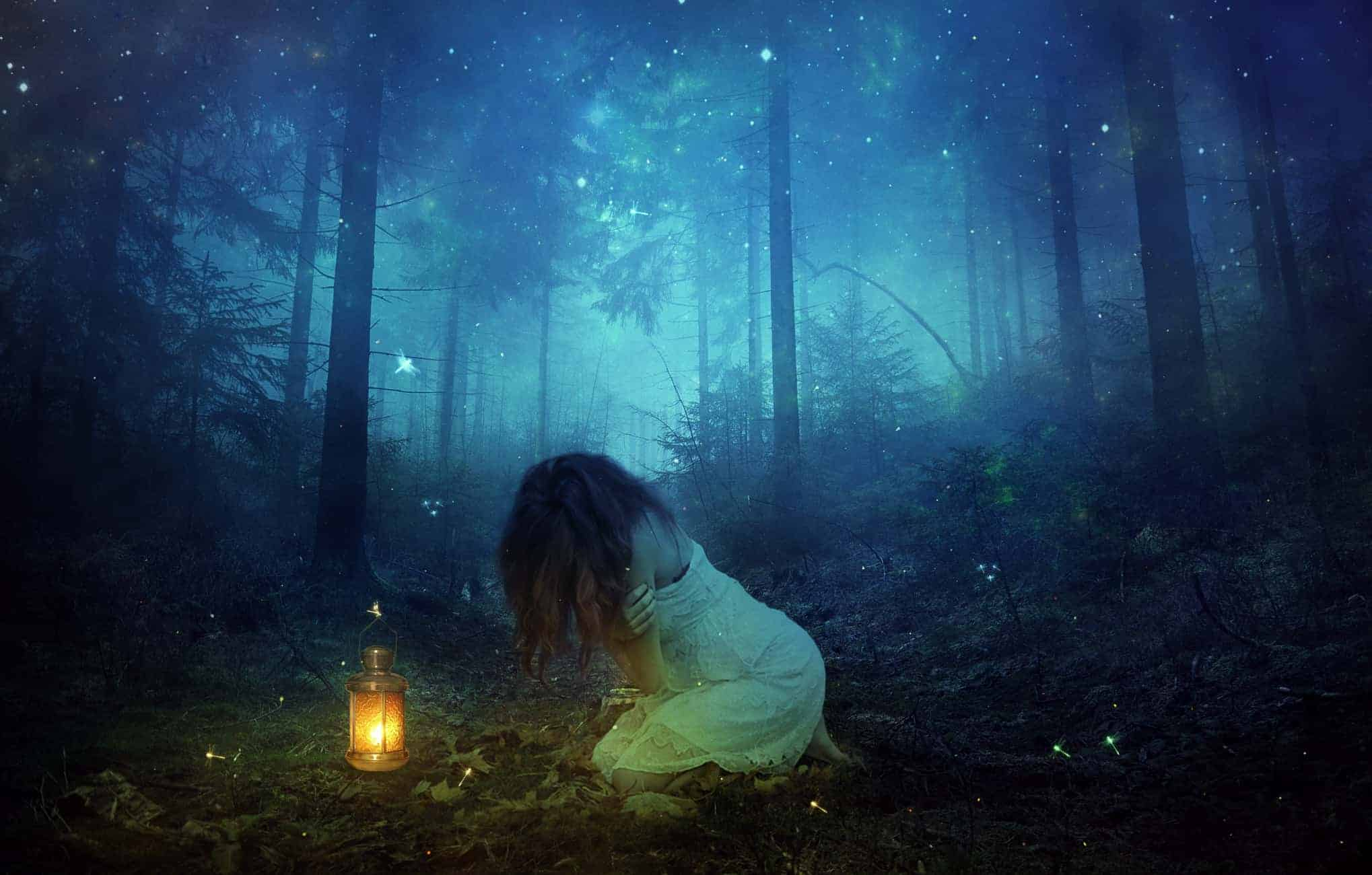 Create a Magical and Emotional Forest Scene of a Lost Girl in Photoshop