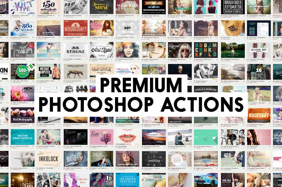 Best Marketplaces for Premium Photoshop Actions