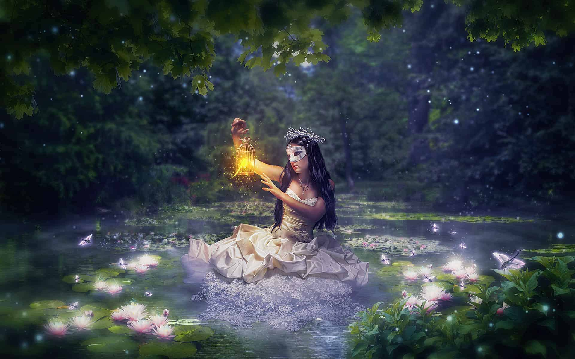 Create a Night Fairy Tale of a Mysterious Girl in Photoshop