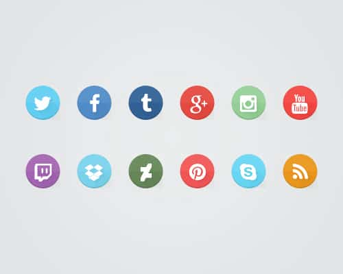 Learn How to Create Some Flat Social Media Icons Using the Free Font Awesome Font in Photoshop