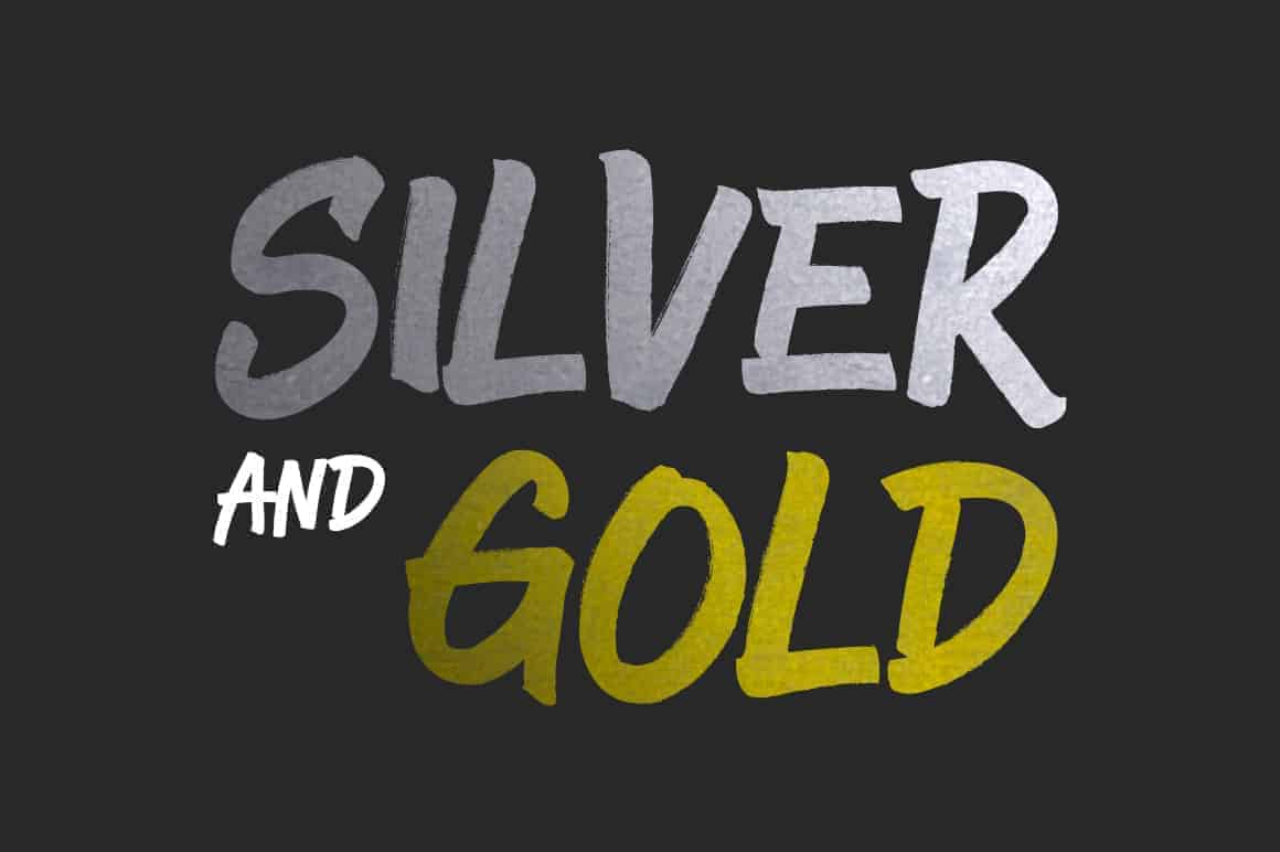 Gold and Silver Photoshop Styles