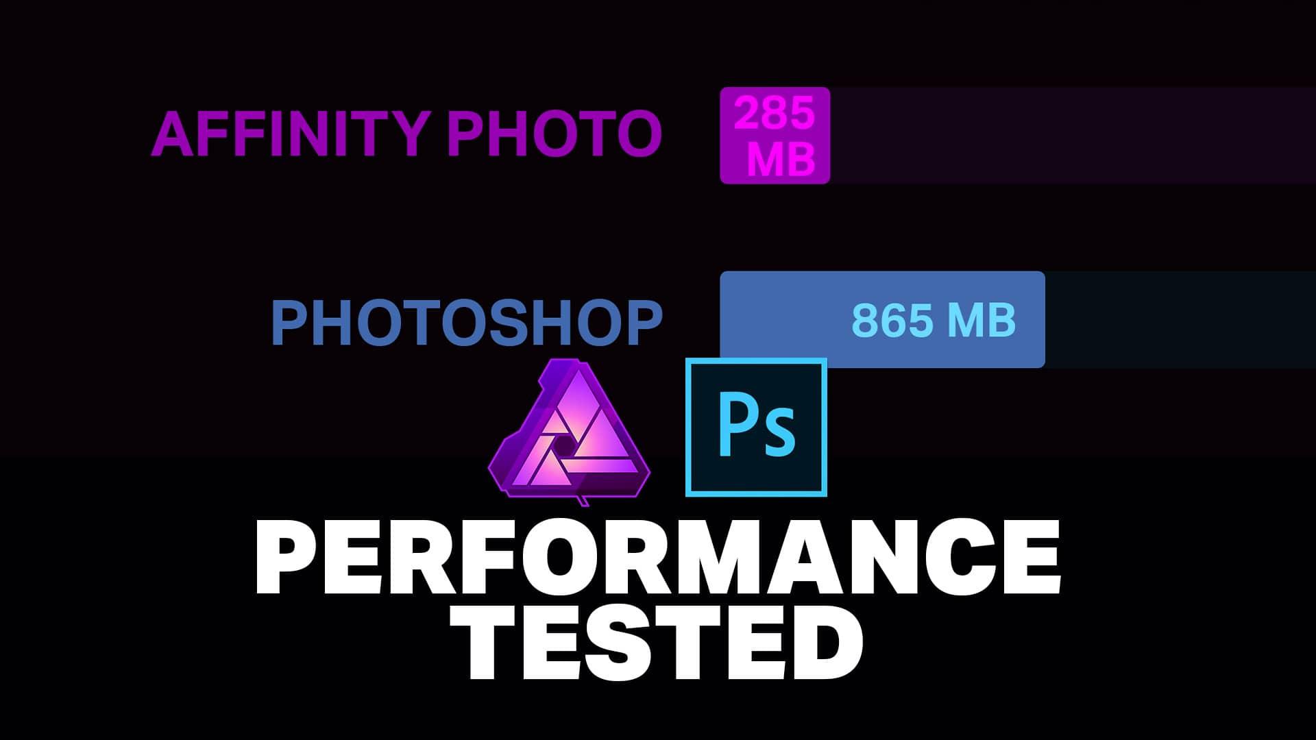 Performance: Affinity Photo vs Photoshop