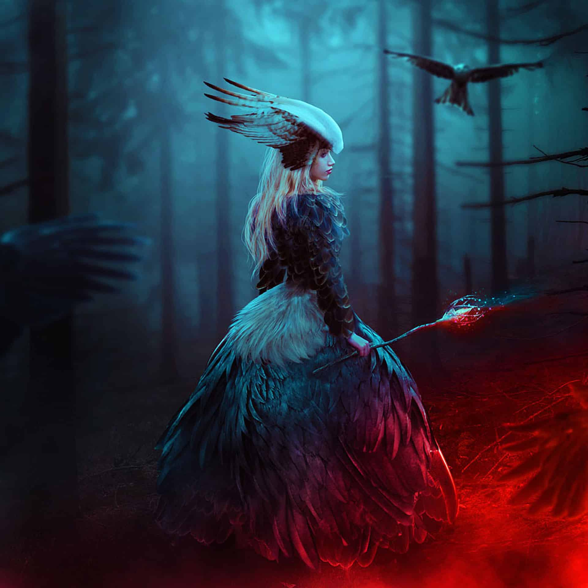 How to Create a Queen of Bird Photo Manipulation in Photoshop