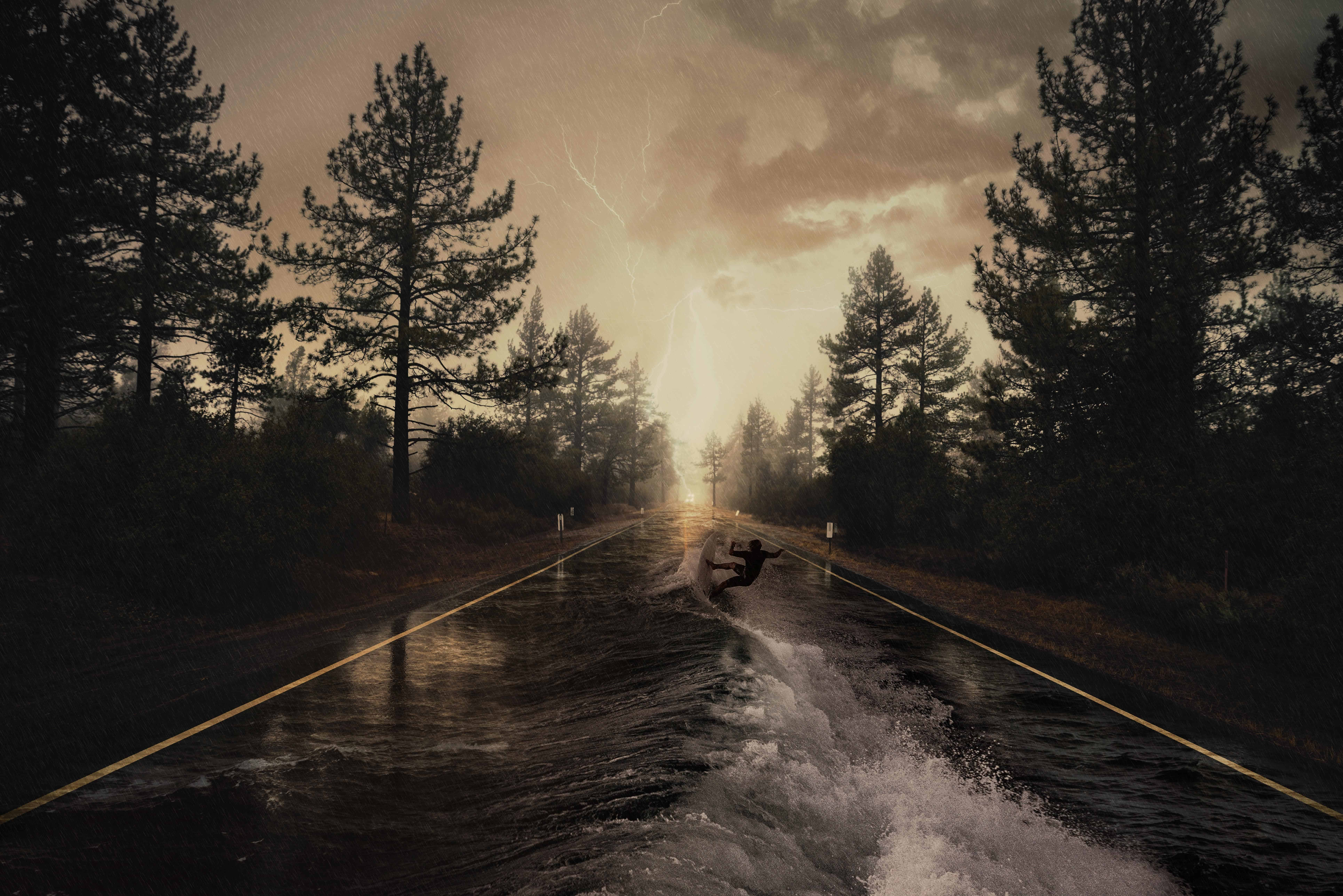 How to Create a Flooded Road in Photoshop
