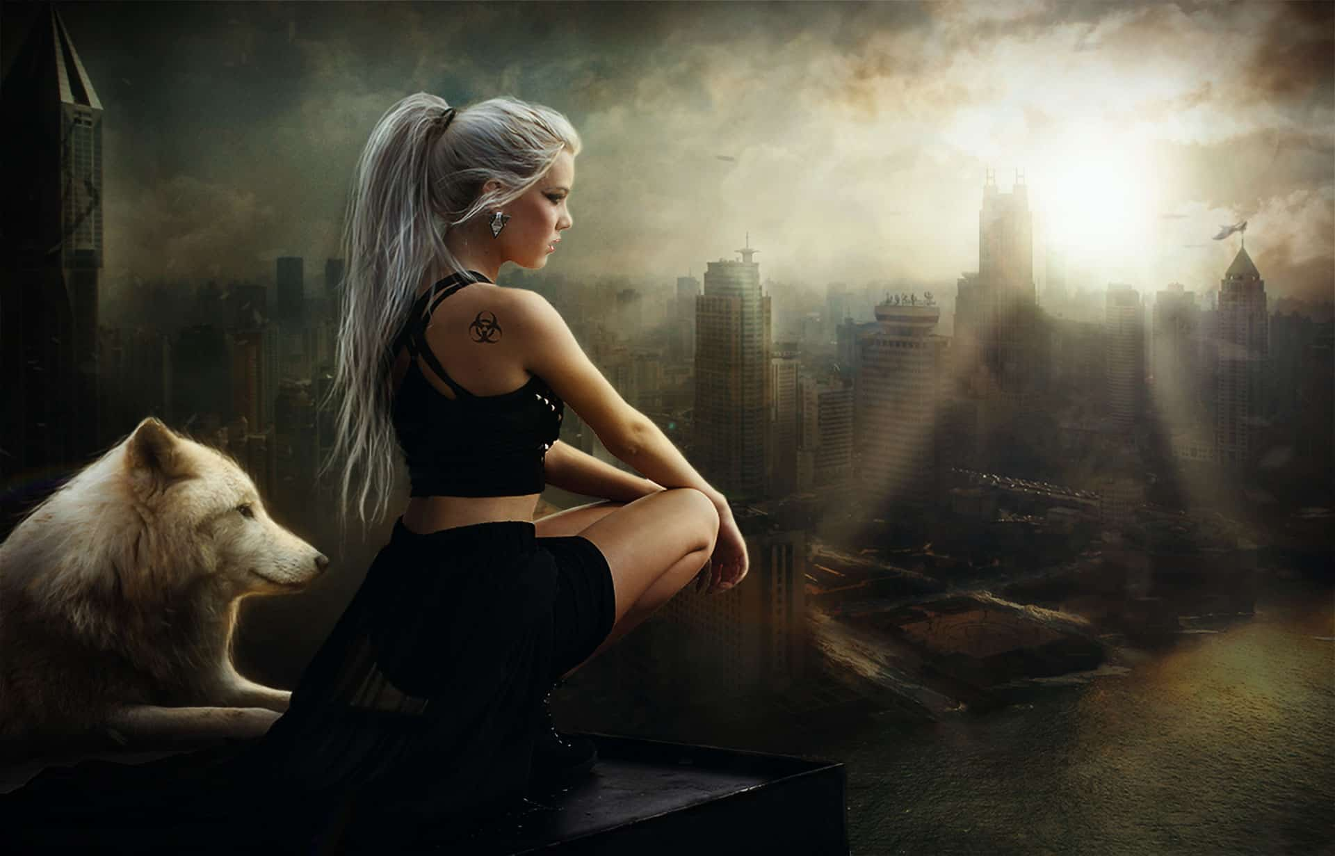 How to Composite a Destroyed City Scene and Retouch Characters in Photoshop