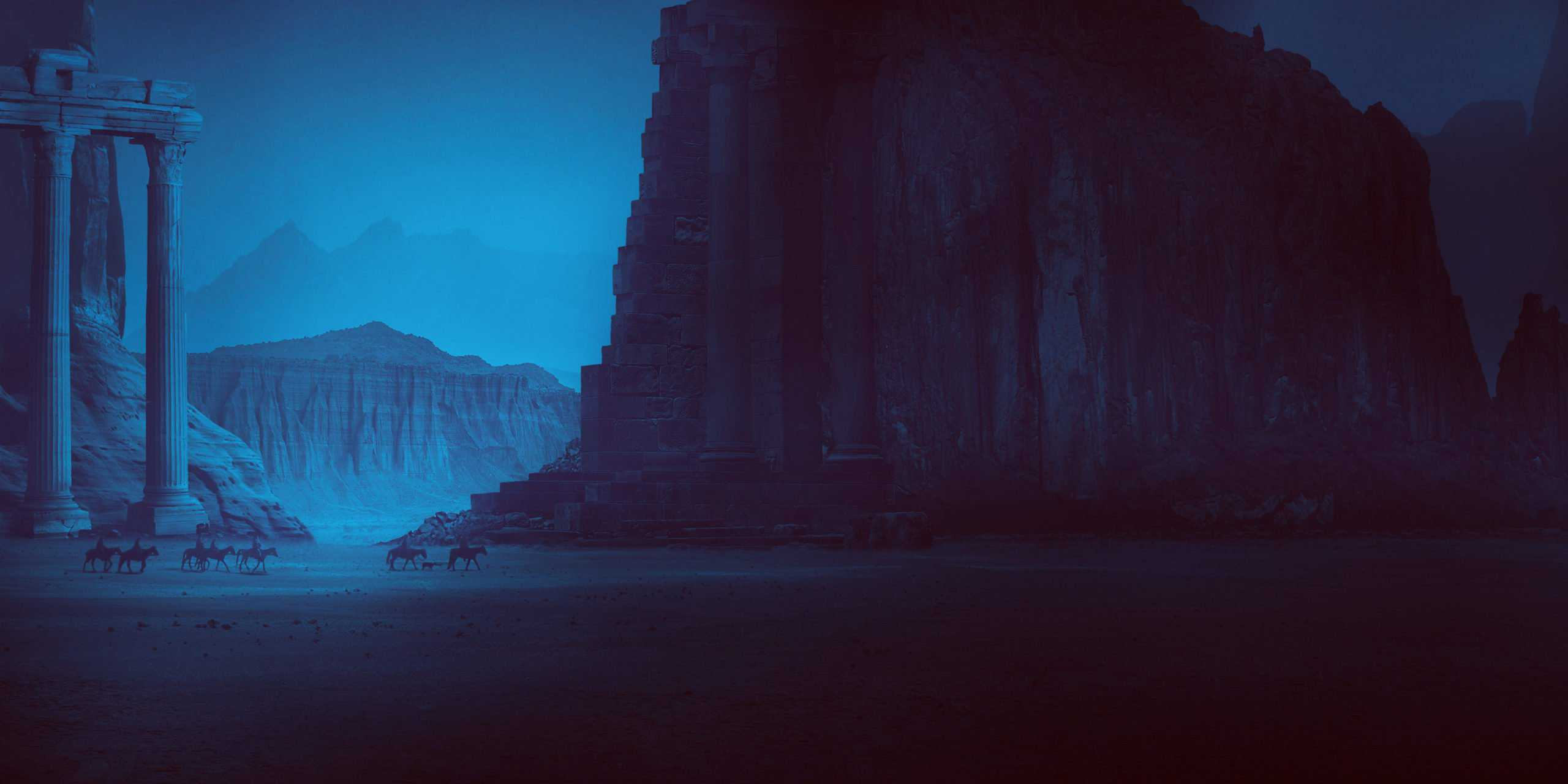 How to Create a Ruined Landscape at Dusk with Photoshop