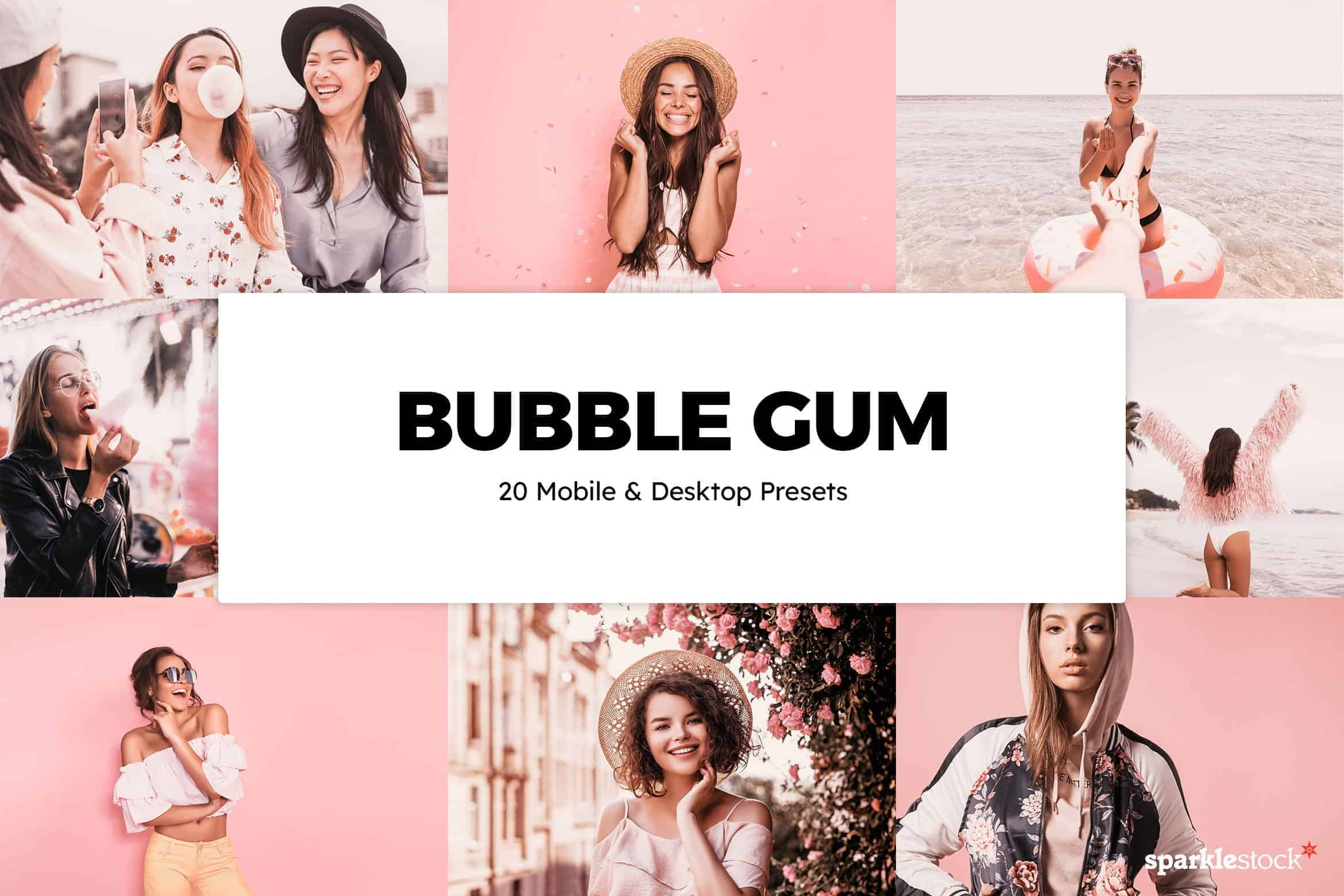 8 Free Bubble Gum Pink Lightroom Presets and LUTs