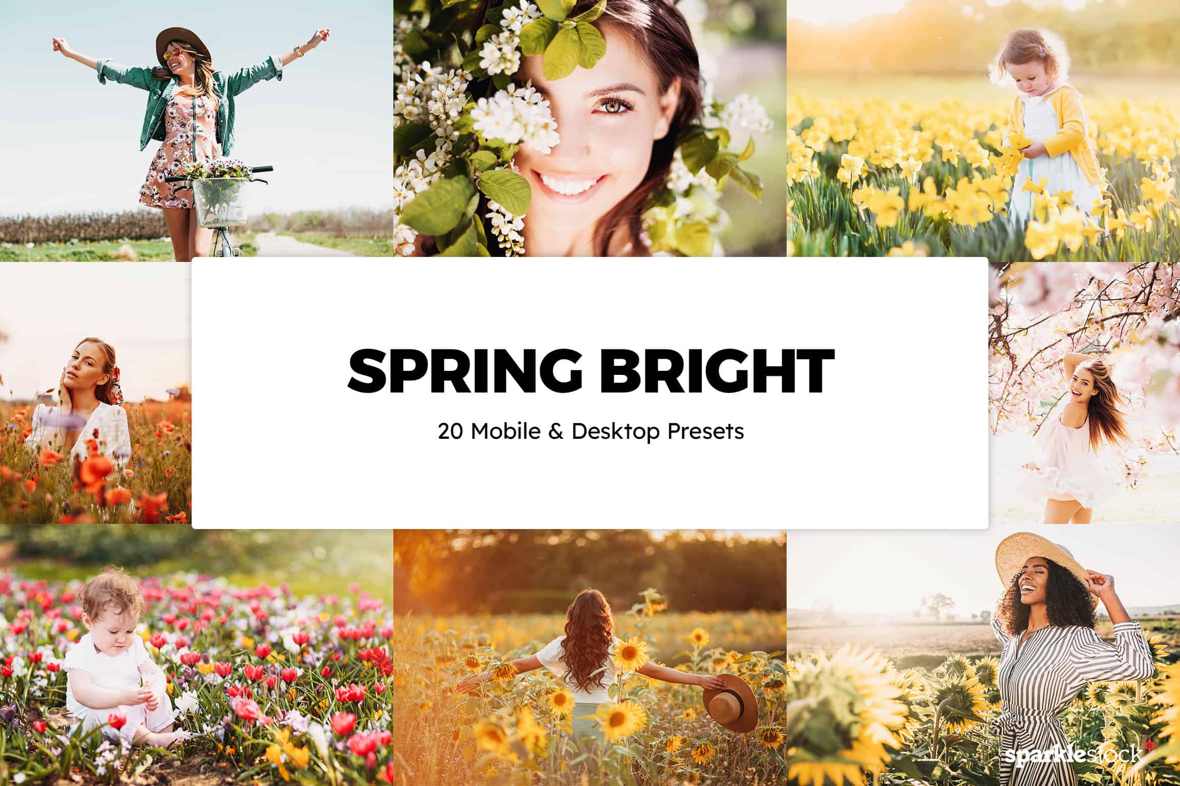 8 Free Spring Bright Lightroom Presets and LUTs