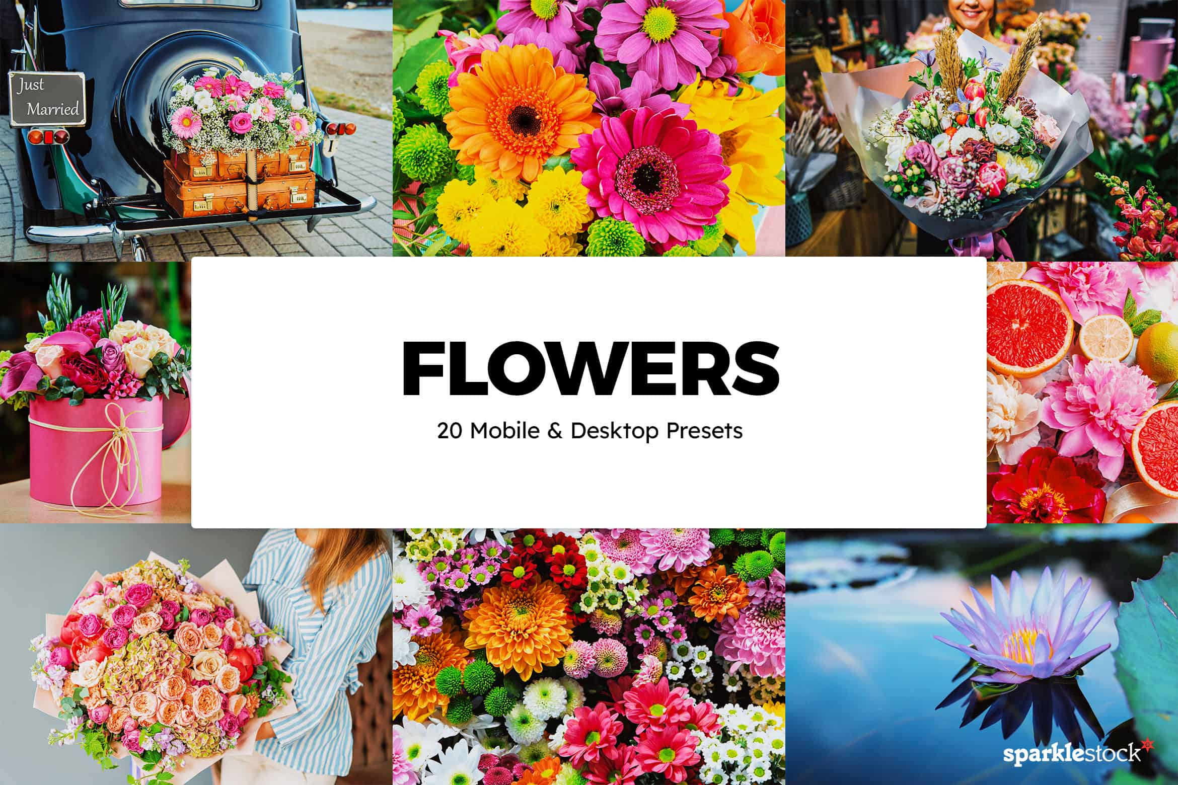 8 Free Flowers Lightroom Presets and LUTs