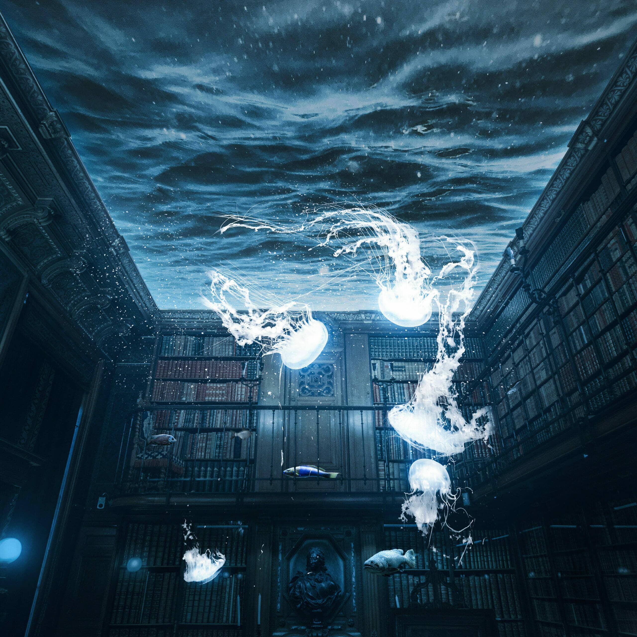 Create a Library Aquarium Photomanipulation
