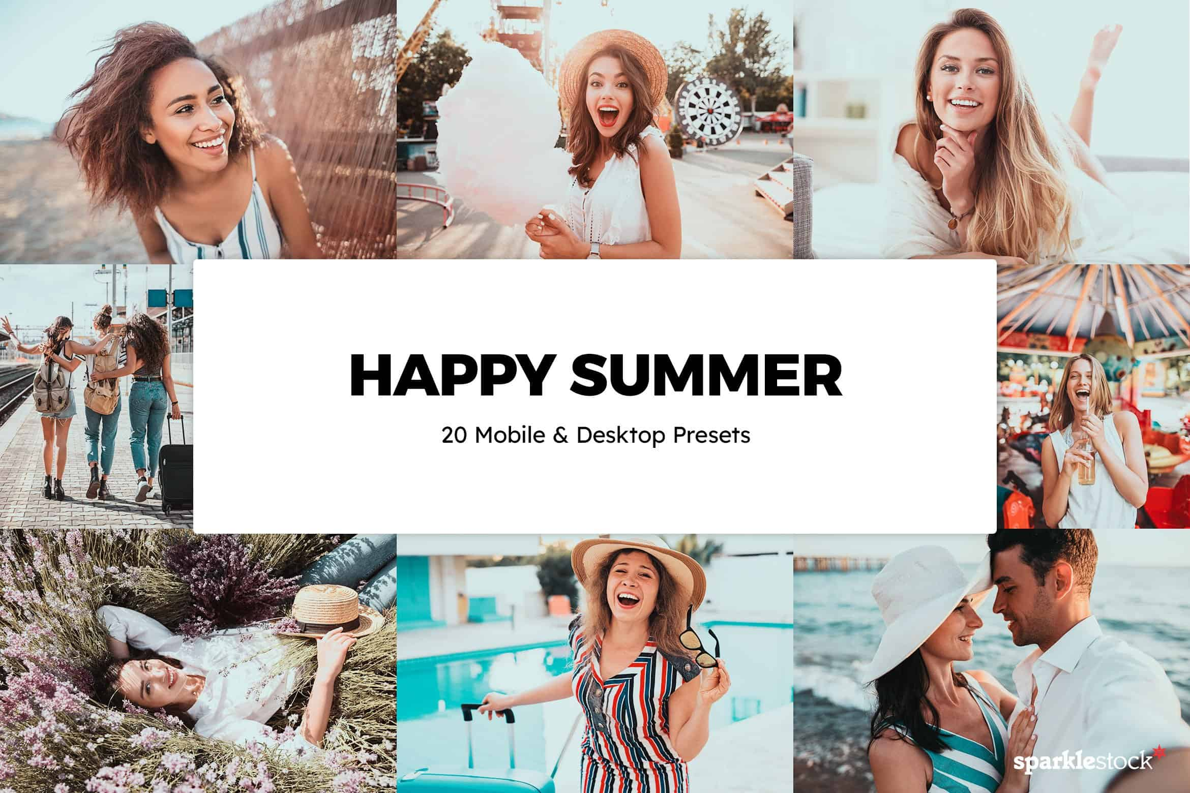 8 Free Happy Summer Lightroom Presets and LUTs