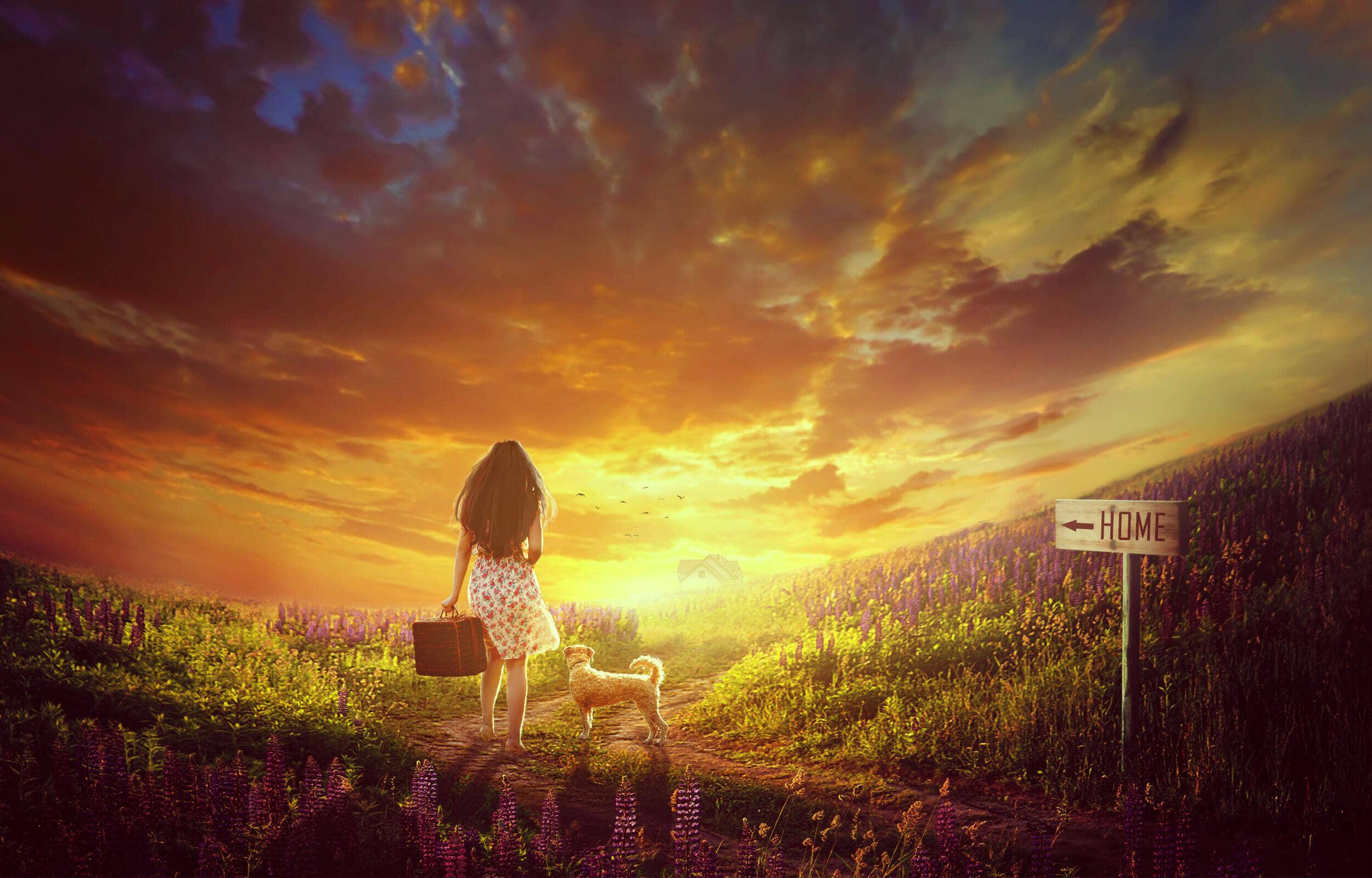 How to Create an Emotional Sunrise Scene Photo Manipulation with Adobe Photoshop