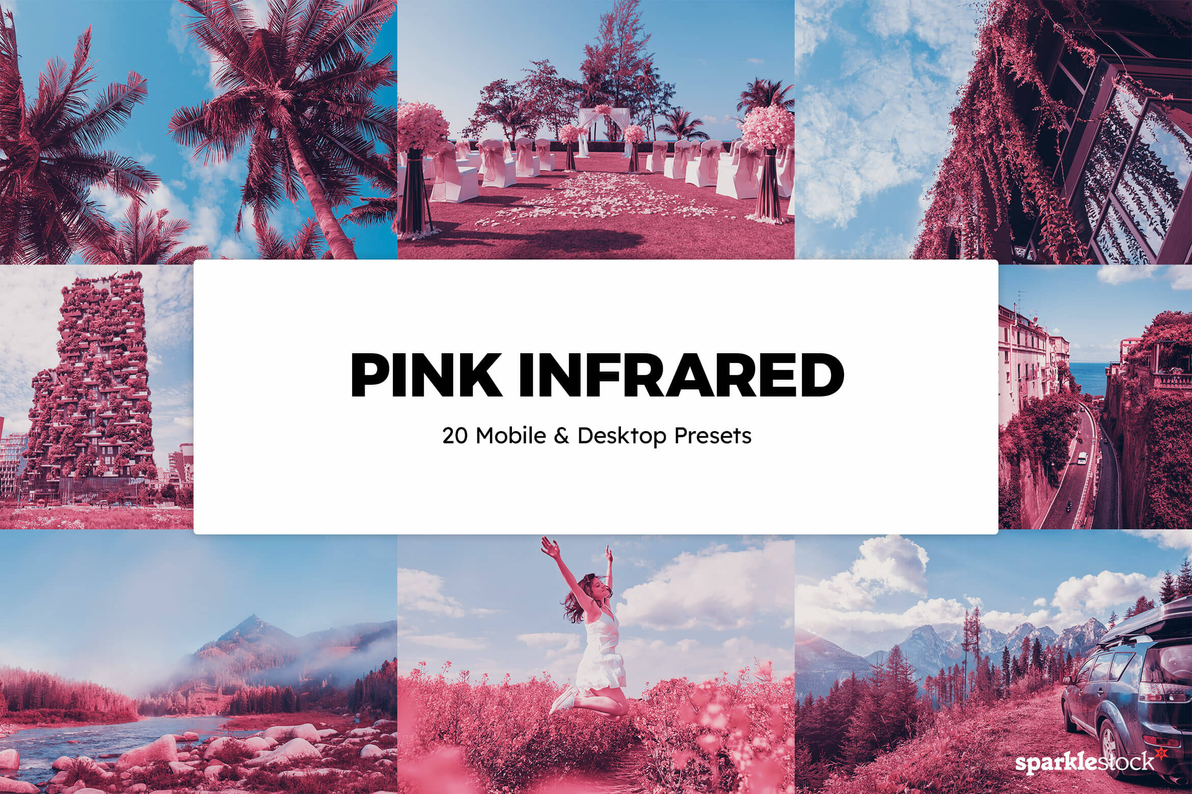 8 Free Pink Infrared Lightroom Presets and LUTs