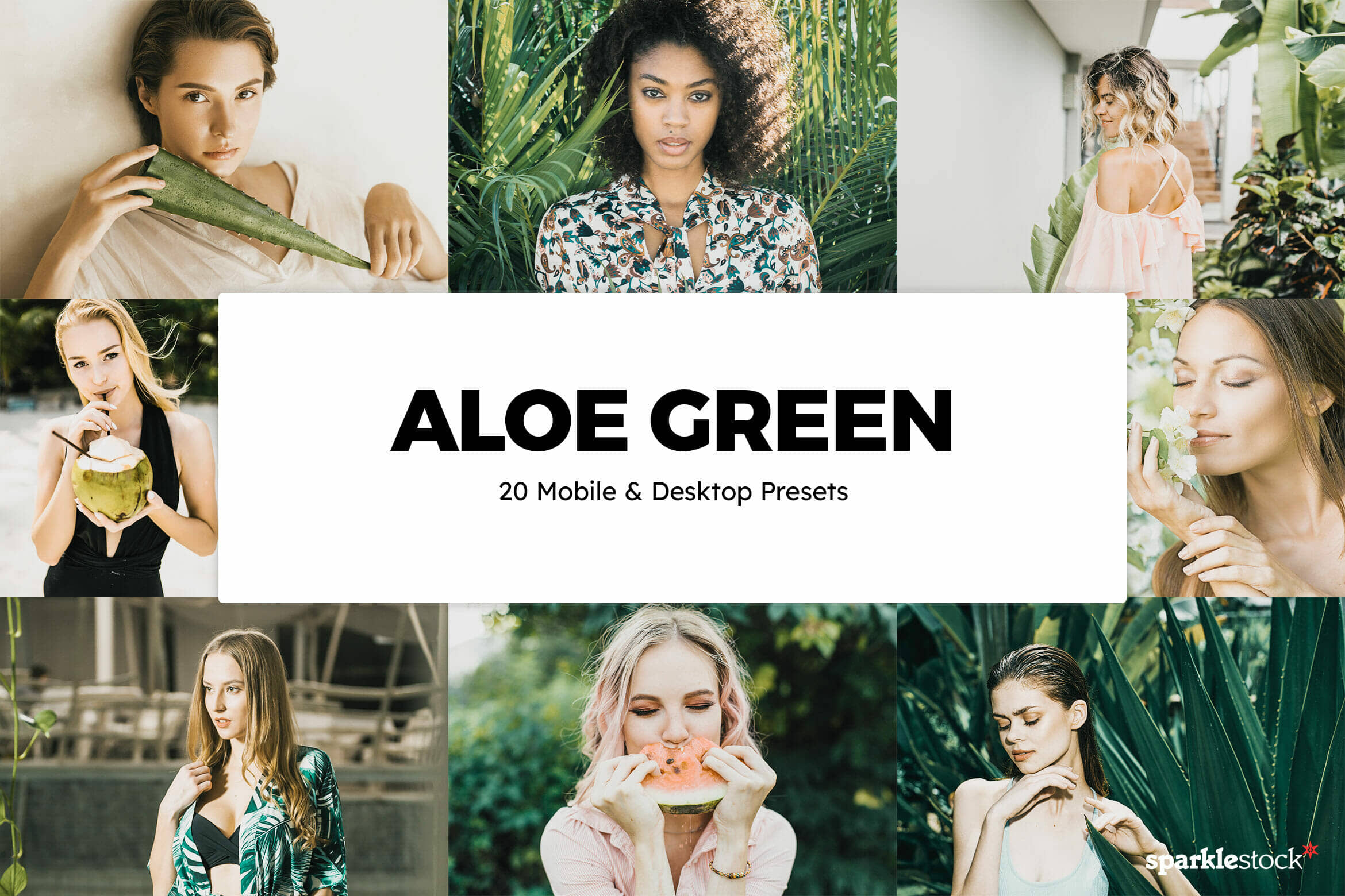 8 Free Aloe Green Lightroom Presets and LUTs