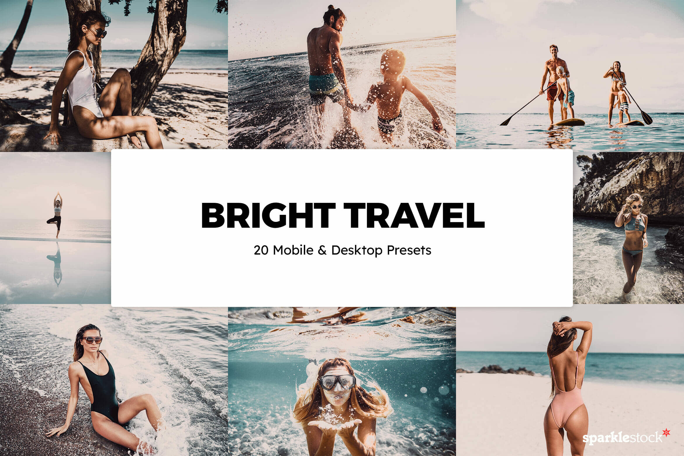 8 Free Bright Travel Lightroom Presets and LUTs