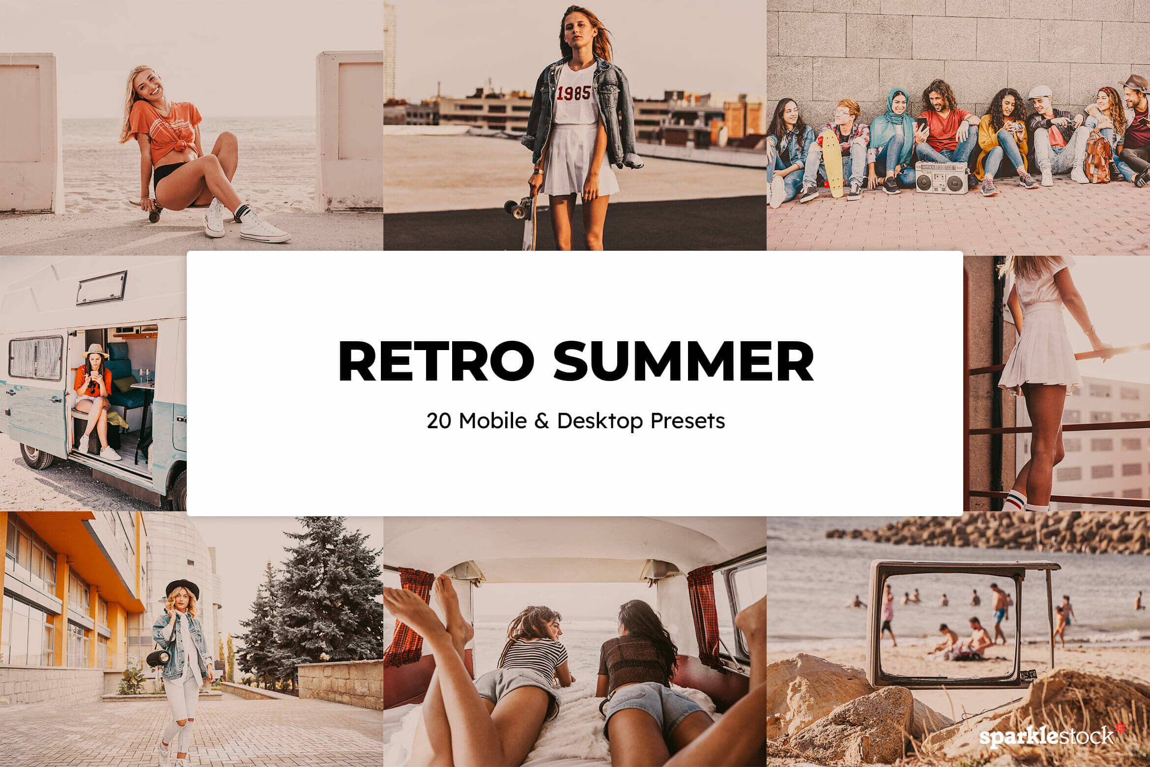 8 Free Retro Summer Lightroom Presets and LUTs