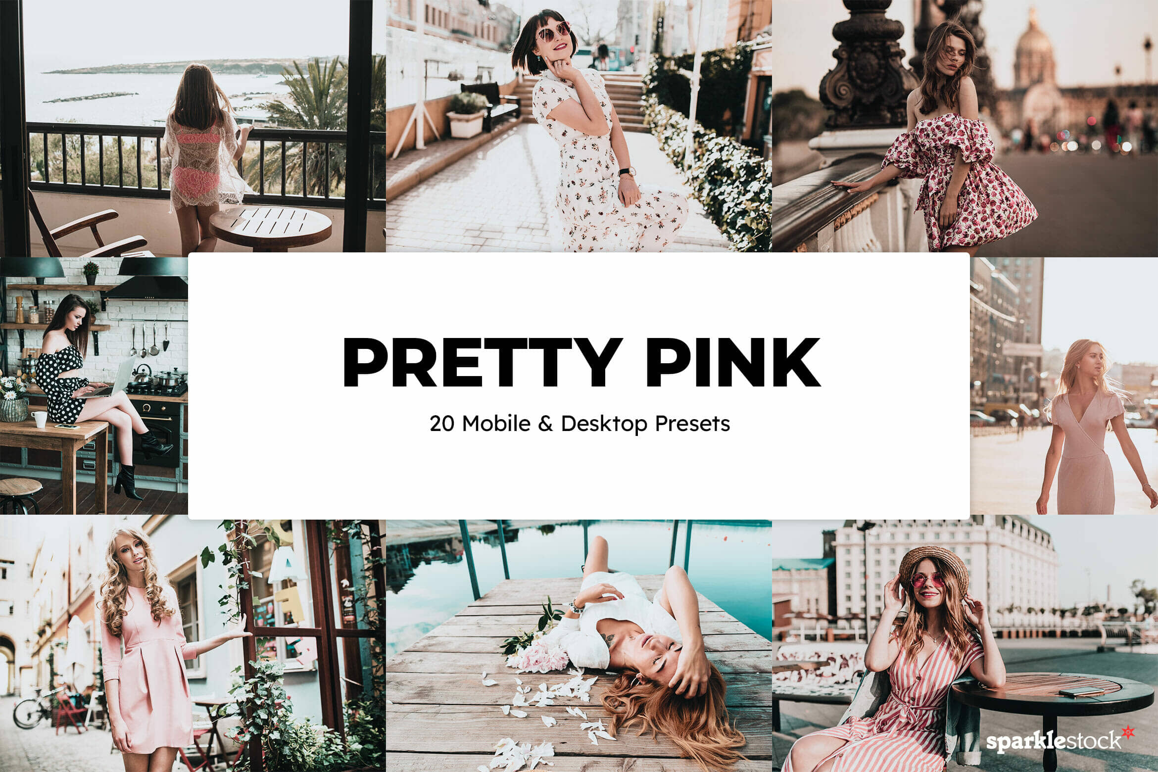 8 Free Pretty Pink Lightroom Presets and LUTs