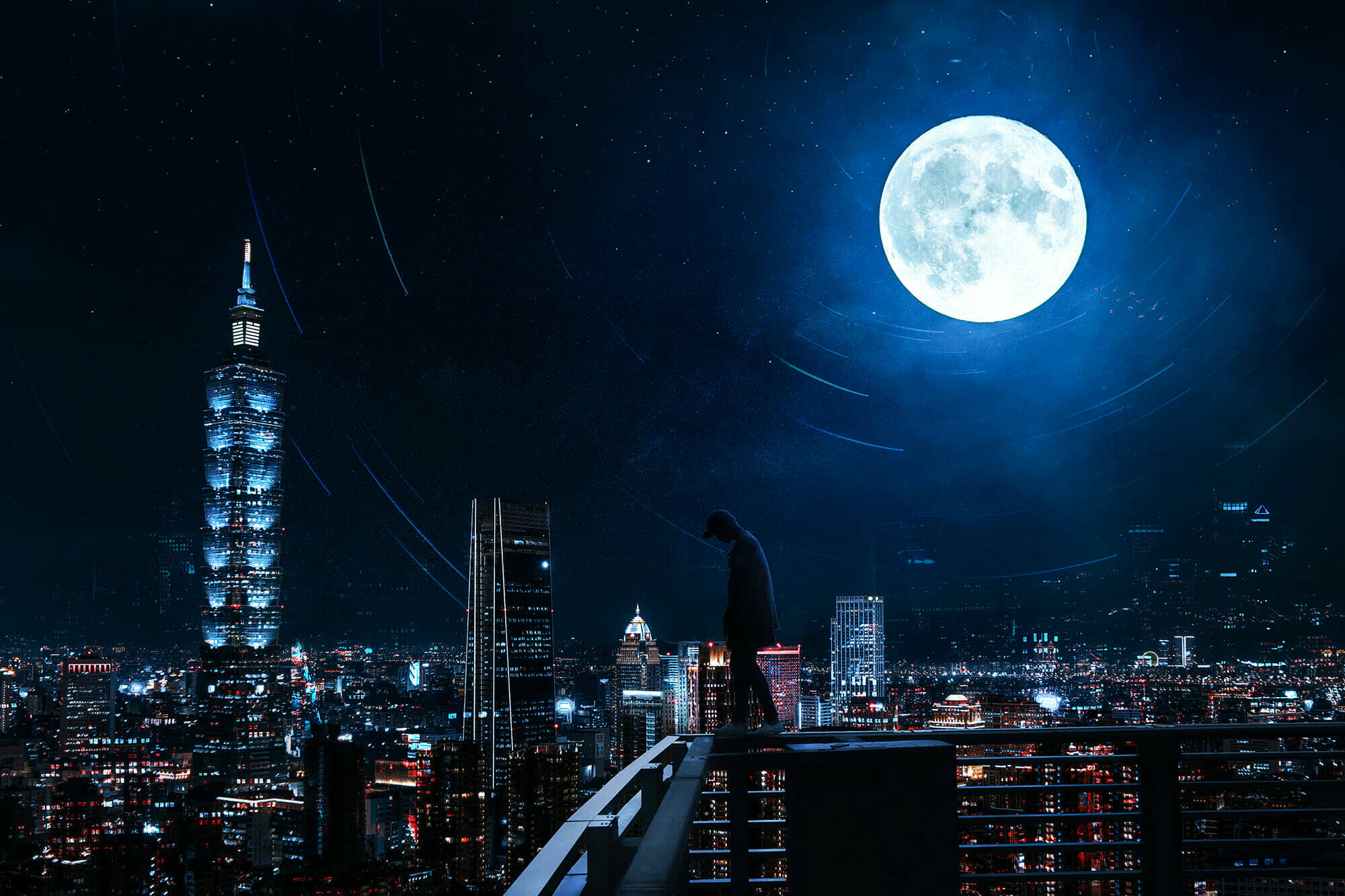 Create an Urban Rooftop Scene in Photoshop