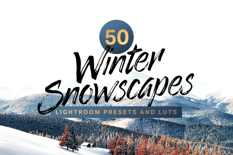 10 Winter Snowscapes Lightroom Mobile and Desktop Presets