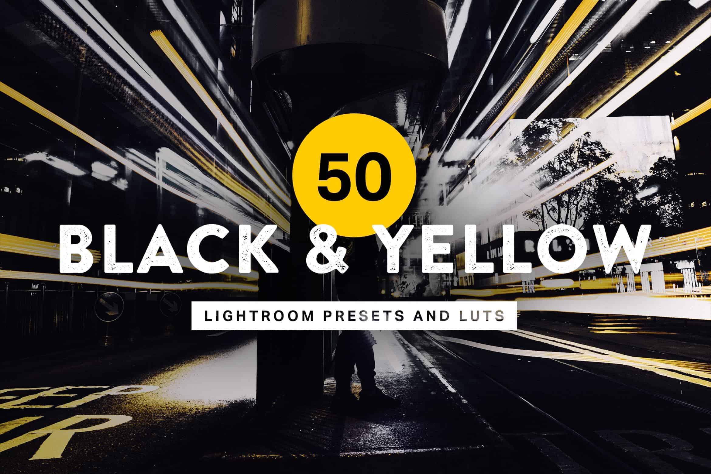 10 Black & Yellow Lightroom Mobile and Desktop Presets